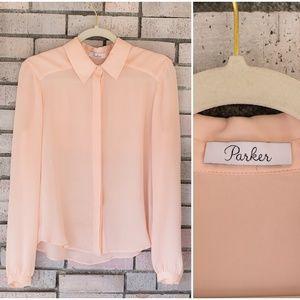 Parker Silk Button Down Blouse